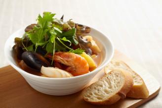カフェ風☆魚介のトマトスープ