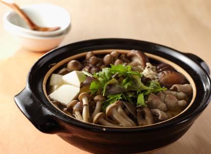 きのこ鍋inベビーリーフ